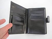 Чоловіче шкіряне портмоне VERITY VE-025-22 black шкіряне портмоне і шкіряні гаманці оптом, фото 3