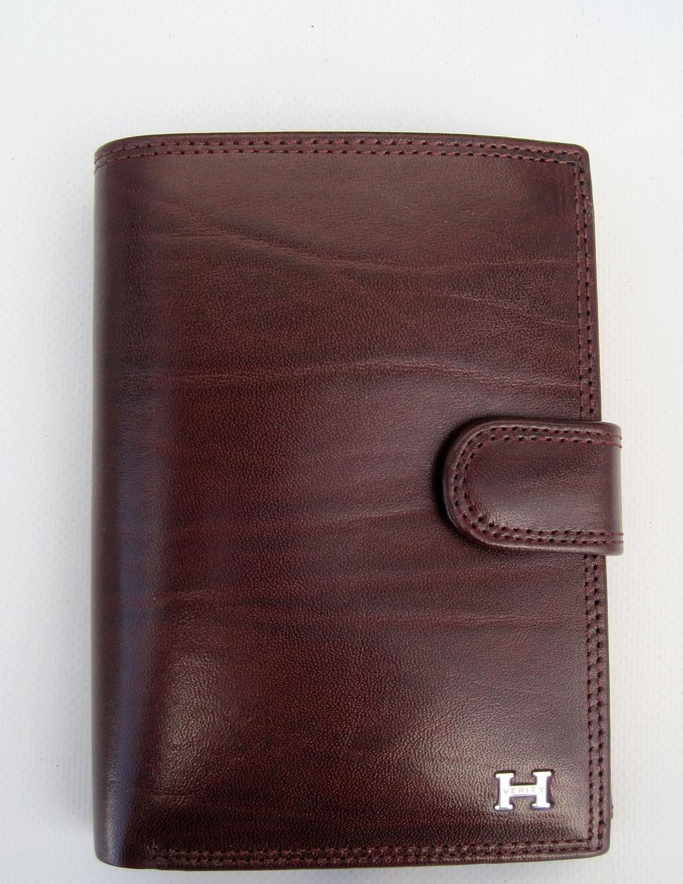 Мужское кожаное портмоне VERITY VE-025-21 winered кожаное портмоне и кожаные кошельки оптом