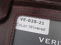 Мужское кожаное портмоне VERITY VE-025-21 winered кожаное портмоне и кожаные кошельки оптом, фото 3