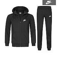 Спортивный костюм Найк черный на молнии, зимний костюм Nike