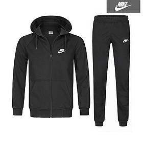 Спортивный костюм Найк черный, Мужской тонкий костюм Nike на молнии,Турция