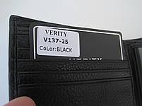 Чоловіче шкіряне портмоне VERITY V137-25 black шкіряне портмоне і шкіряні гаманці оптом, фото 2
