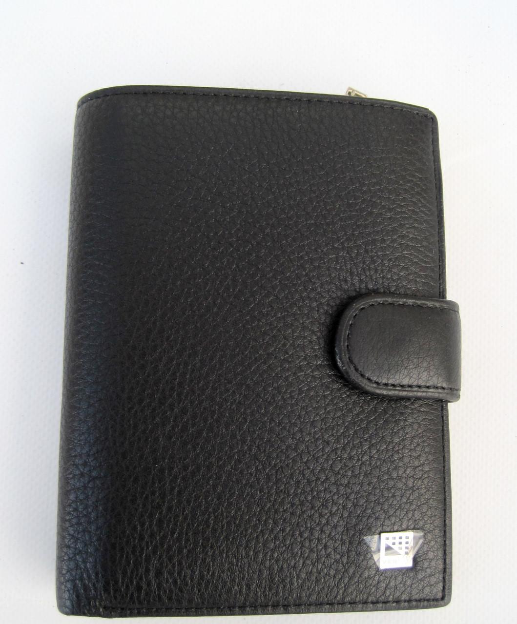 Чоловіче шкіряне портмоне VERITY V139-22 black шкіряне портмоне і шкіряні гаманці оптом
