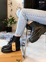Женские зимние ботинки Dr. Martens Jadon Fur (черные)