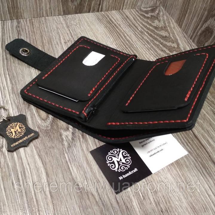 Мужской кожаный кошелек,  портмоне,  бумажник