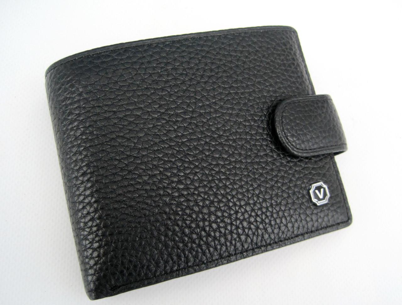 Чоловіче шкіряне портмоне VERITY V122-24 black шкіряне портмоне і шкіряні гаманці оптом