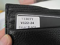Чоловіче шкіряне портмоне VERITY V122-24 black шкіряне портмоне і шкіряні гаманці оптом, фото 2