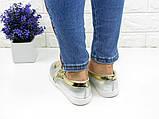 Женские стильные слипоны Fashion Hobbs 1007 36 размер 22,5 см Серебристый, фото 3