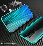 Магнітний метал чохол FULL GLASS 360° для Xiaomi Redmi Note 8 Pro /, фото 8