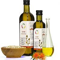 Сафлоровое масло холодного отжима (сыродавленное) нерафинированное