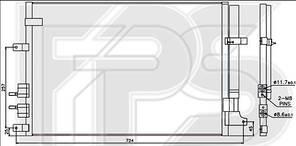 Радиатор кондиционера Alfa Romeo 159 (07-12) (AVA)