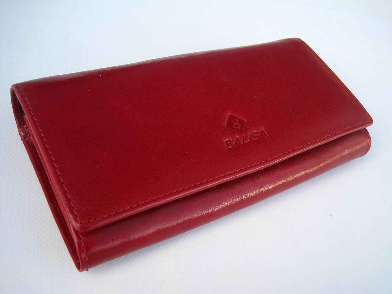 Женский кожаный кошелек Balisa 826-44 красный Кошельки Balisa оптом с быстрой доставкой