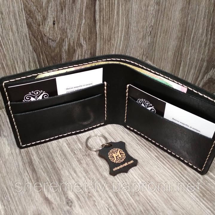 Мужской кожаный кошелек ручной работы,  кошелёк,  портмоне