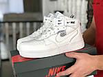 Мужские зимние кроссовки Nike Air Force 1 07 Mid LV8 (белые), фото 2