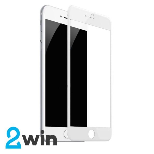 Скло 5D Premium iPhone 6/6s Plus White