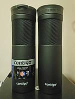 Термокружка Contigo Byron Snapseal Gunmetal (цвет черный матовый) 709 мл