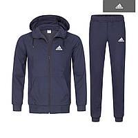 Спортивный костюм Адидас темно-синий на молнии, зимний костюм Adidas