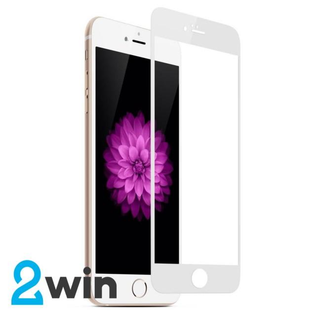 Скло 5D iPhone 6/6S Plus White