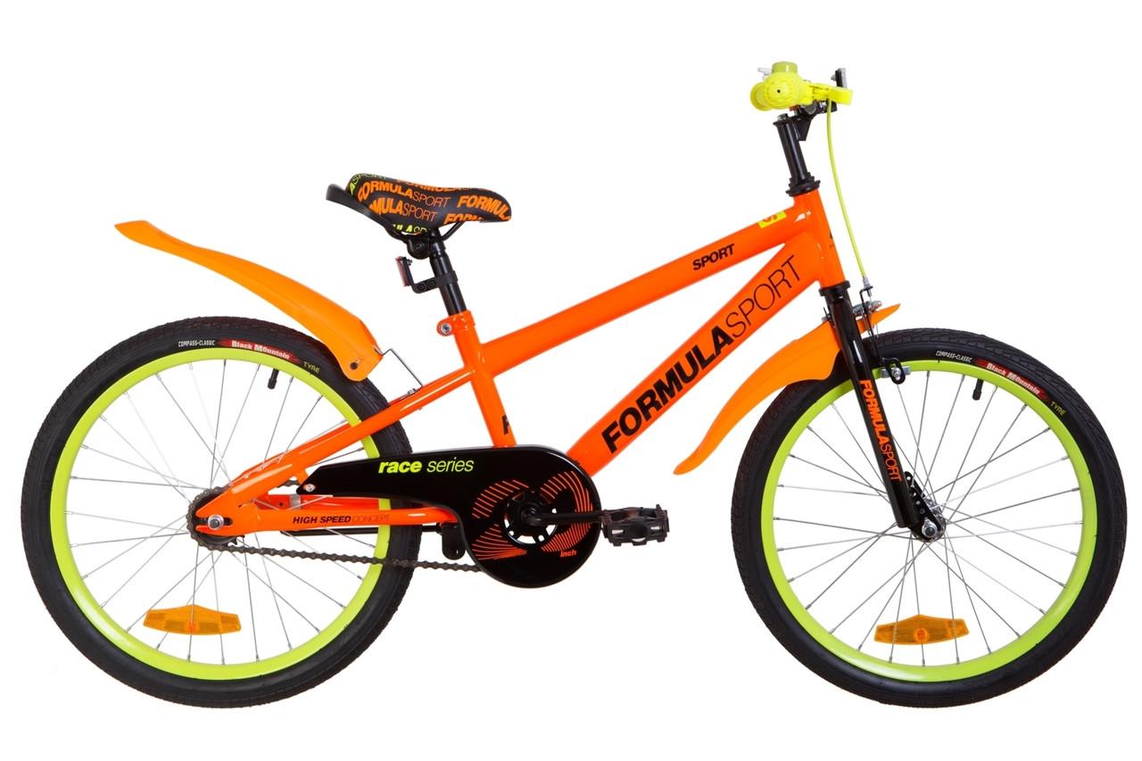 """Велосипед детский 20"""" Formula SPORT 2019 (рама 10.5"""", оранжевый)"""