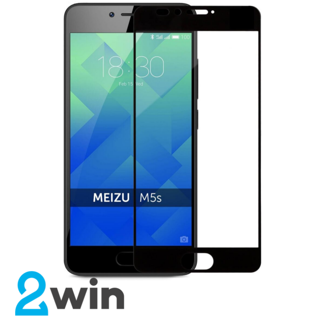 Стекло Full Glue Meizu M5S Black