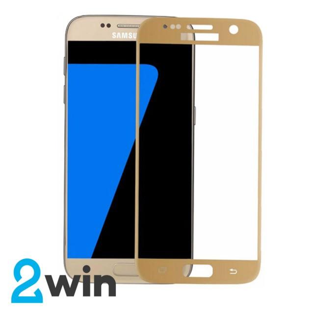 Скло Full Glue Samsung S7 Gold