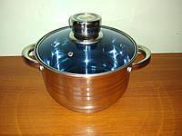 Каструля з скляною кришкою 3,9 л ø20 см, фото 1