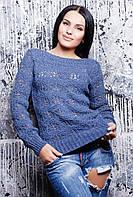 Вязаный свитер Снежинка