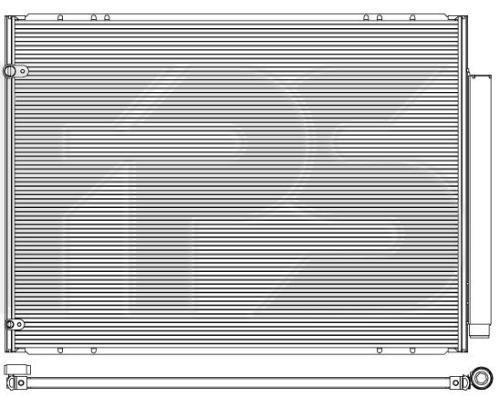 Радиатор кондиционера Lexus RX (Koyoair) FP 81 K497-X