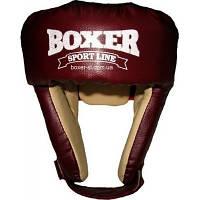 Шлем боксёрский кожвинил/кирза Boxer Sport Line, размер L (шлем для бокса)