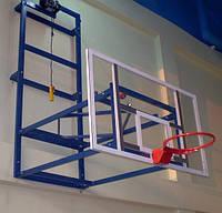 Щит баскетбольный 1800х1050 мм,из оргстекла толщиной 8 мм, с силовой антивибрационной металлической рамой