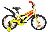 """Велосипед детский 16"""" Formula RACE 2019 (желтый с оранжевым)"""