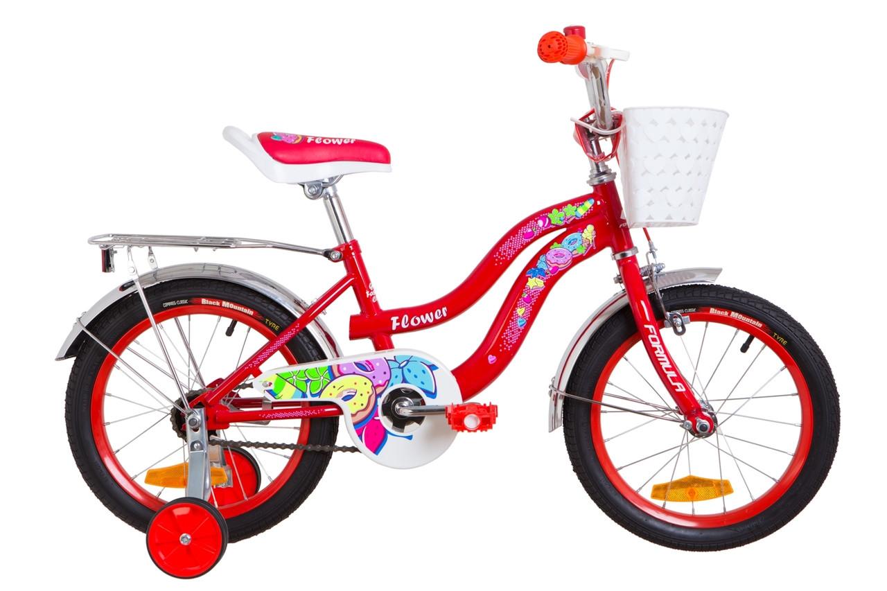 """Велосипед детский 16"""" Formula FLOWER 2019 (красный)"""