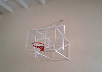 Баскетбольный щит 1800х1050 мм, из оргстекла толщиной 10 мм, с силовой антивибрационной металлической рамой