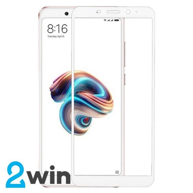 Скло Full Glue Xiaomi Redmi Note 5 White