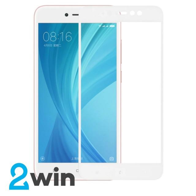 Скло Full Glue Xiaomi Redmi Note 5A/Y1 Lite White