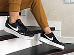Женские кроссовки Nike Air Force (черно-белые), фото 2