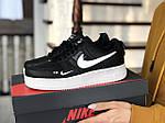 Женские кроссовки Nike Air Force (черно-белые), фото 3