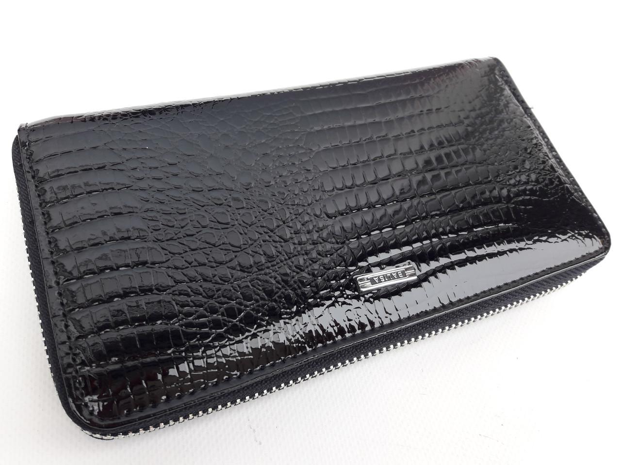 Женский кожаный кошелек Balisa В116-570-1 черный Лаковые кошельки Balisa оптом