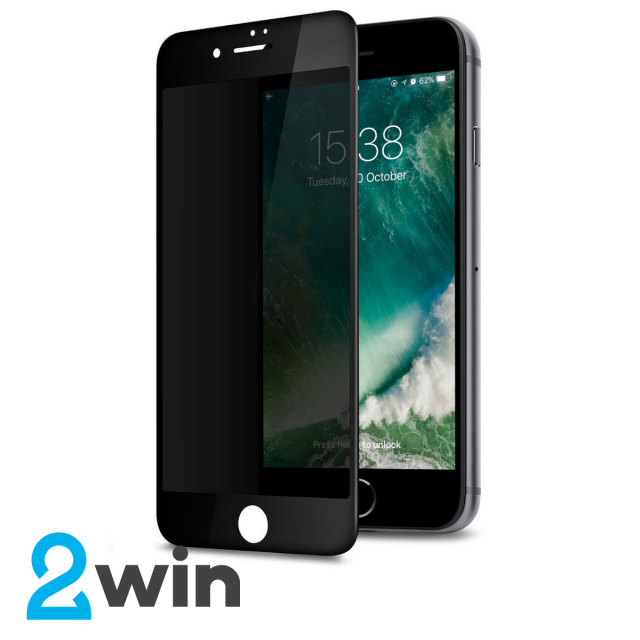 Стекло Privacy Glass Iphone 6/6S Plus Black