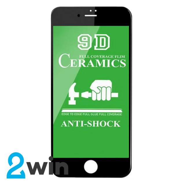 Защитное стекло Ceramic iPhone 6/6S Plus Black