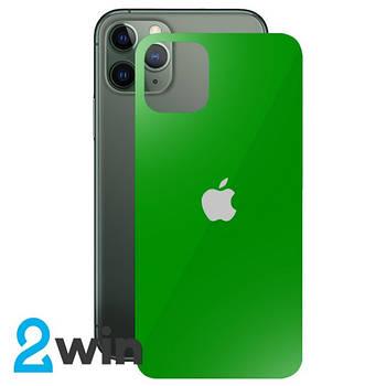 Стекло Защитное Back Glass iPhone 11 Pro Green