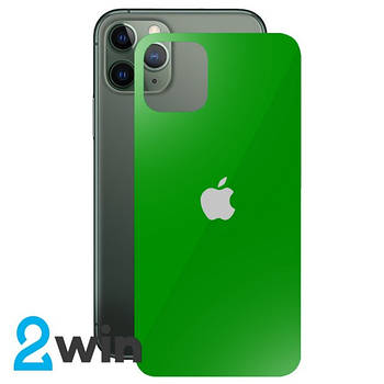 Стекло Защитное Back Glass iPhone 11 Pro Max Green