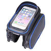 """Велосипедная сумка на раму Touch Screen до 6"""" QB-T1333 Blue, фото 1"""