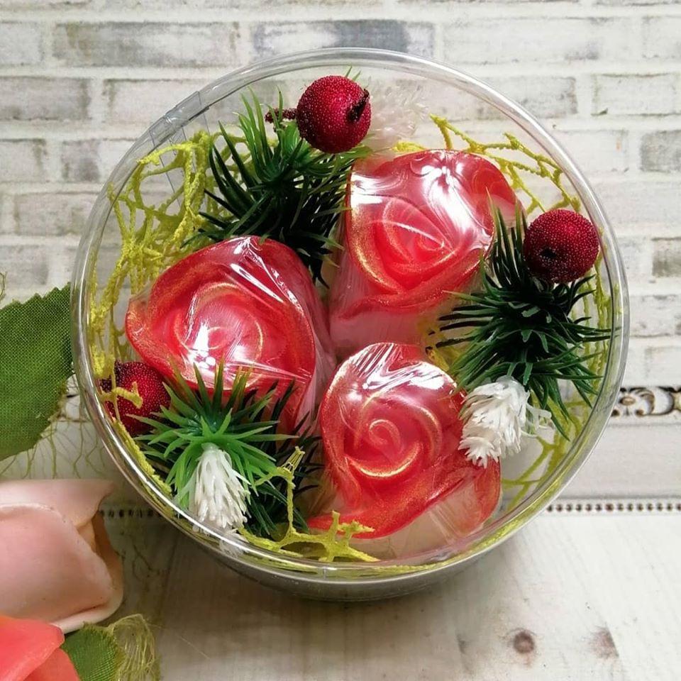 """Набор глицеринового мыла """"Розы с ягодами"""""""