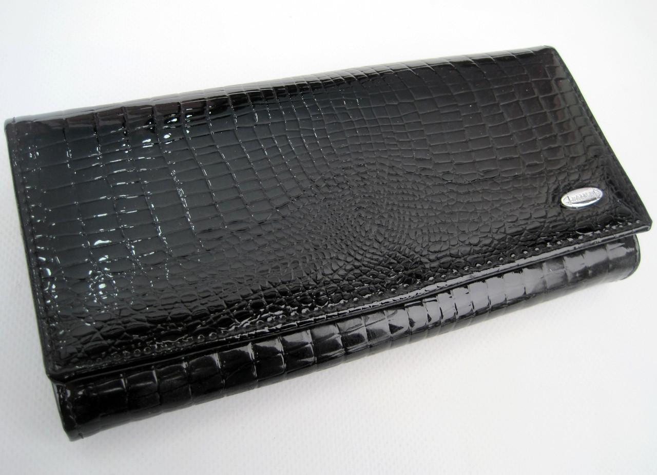 Женский кожаный кошелек Balisa С826-028 черный Лаковые кошельки Balisa оптом