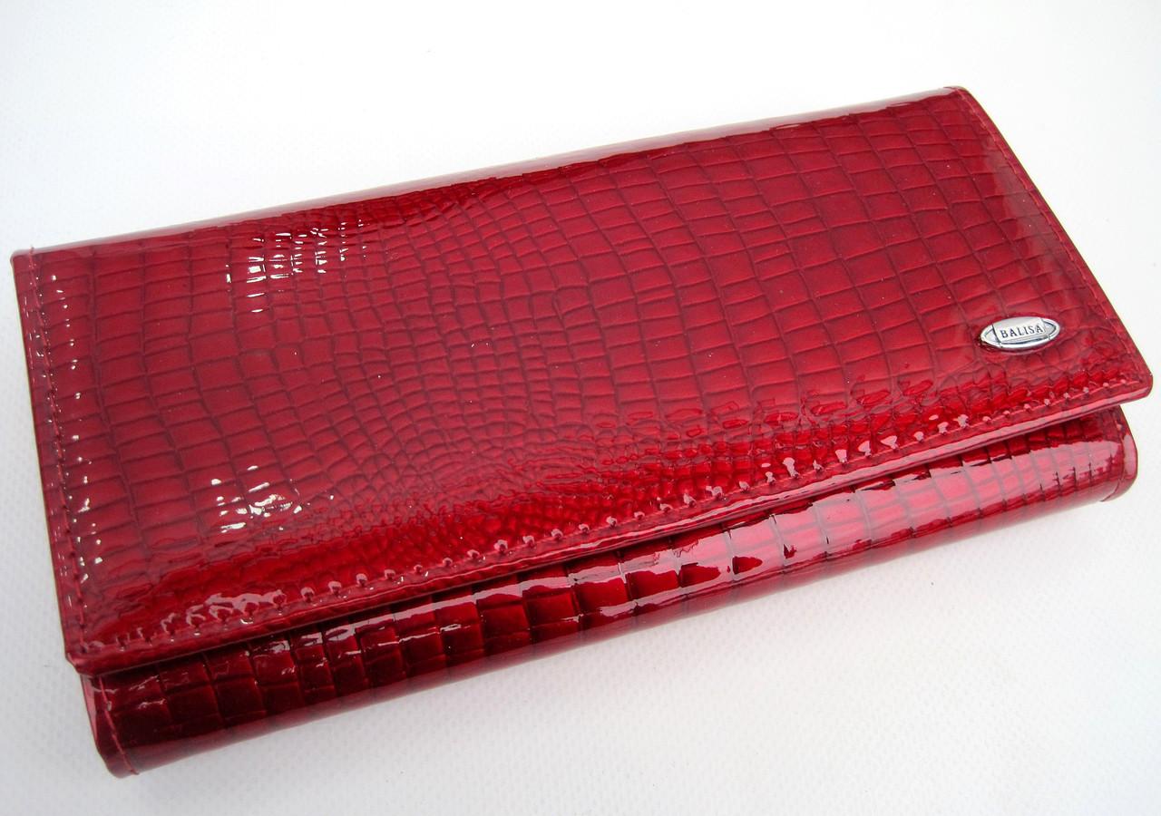 Женский кожаный кошелек Balisa С826-028 красный Лаковые кошельки Balisa оптом