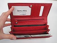 Женский кожаный кошелек Balisa С826-028 красный Лаковые кошельки Balisa оптом, фото 2