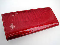 Женский кожаный кошелек Balisa С826-028 красный Лаковые кошельки Balisa оптом, фото 3