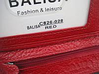 Женский кожаный кошелек Balisa С826-028 красный Лаковые кошельки Balisa оптом, фото 4