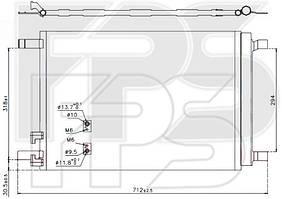 Радиатор кондиционераSkoda Octavia / VW Golf(NRF) FP 64 K49-X
